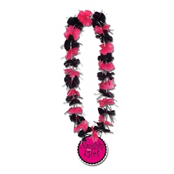 Party Lei with Naughty Girl Medallion