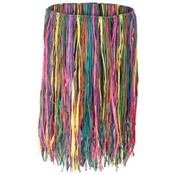 Multi-Color Extra Large Raffia Hula Skirt