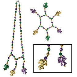 Green, Gold and Purple Beads for Sale