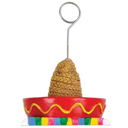 Sombrero with Serape Photo/Balloon Holder