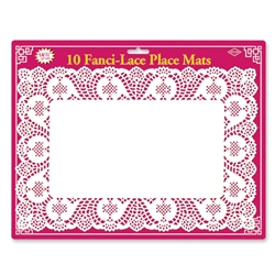 Fanci-Lace White Bond Place Mats