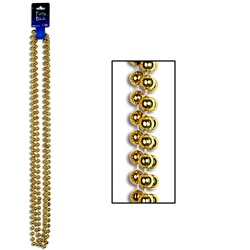 Gold Party Beads - Large Round