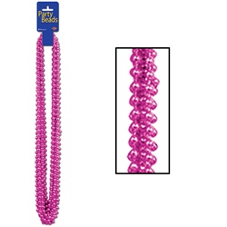 Cerise Party Beads - Small Round