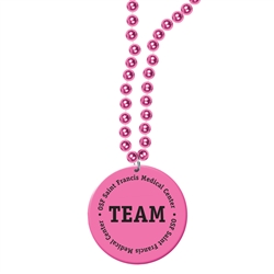 Pink Ribbon Custom Imprinted Print-N-Toss Medallion Beads