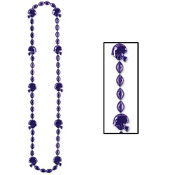 Purple Football Beads