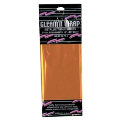 Orange Gleam 'N Wrap Metallic Sheets