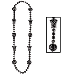Black Basketball Beads