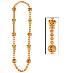 Orange Basketball Beads