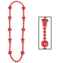 Red Basketball Beads