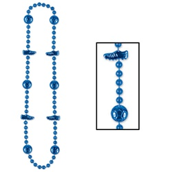 Blue Soccer Beads
