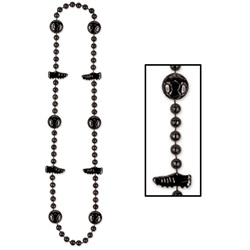 Black Soccer Beads