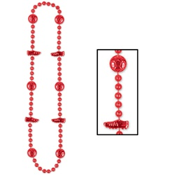 Red Soccer Beads