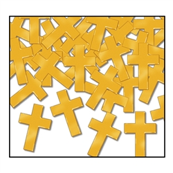 Gold Fanci-Fetti Crosses