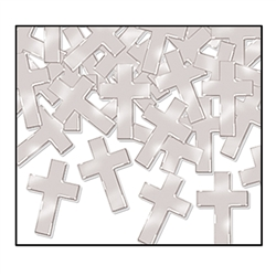 Silver Fanci-Fetti Crosses