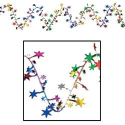 Multi-Color Gleam 'N Flex Star Garland