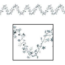 Silver Gleam 'N Flex Star Garland