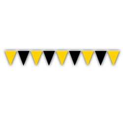 Black & Golden-Yellow Outdoor Pennant Banner