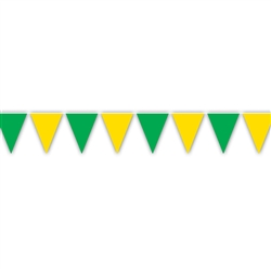 Green & Yellow Indoor/Outdoor Pennant Banner