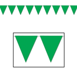 Green Indoor/Outdoor Pennant Banner