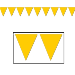 Golden-Yellow Indoor/Outdoor Pennant Banner