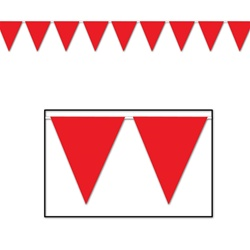 Red Indoor/Outdoor Pennant Banner