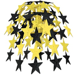 Black & Gold Star Cascade