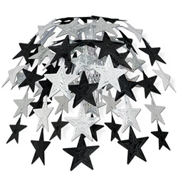 Black & Silver Star Cascade
