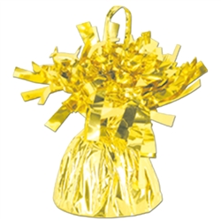 Yellow Metallic Wrapped Balloon Weight