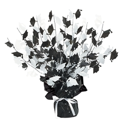 Black and White Graduation Cap Centerpiece