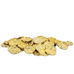 Gold Plastic Coins