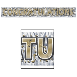 Gold Congratulations Banner for Sale