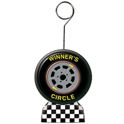 Checkered Flag/Racing Tire Photo/Balloon Holder