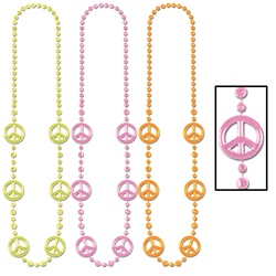 Funky Peace Sign Beads