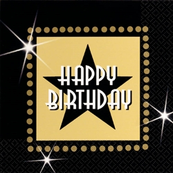 Star Attraction Happy Birthday Beverage Napkins | Party Supplies