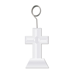 Cross Photo/Balloon Holder
