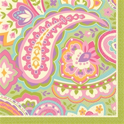 Pretty Paisley Beverage Napkins | Party Supplies