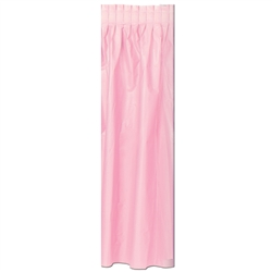 Pink Masterpiece Plastic Table Skirting