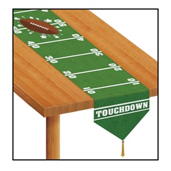 Printed Game Day Football Table Runner