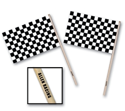 "4"" x 6"" Custom Imprinted Plastic Racing Flag"