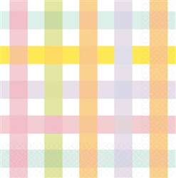 Colorful Gingham Beverage Napkins | Party Supplies