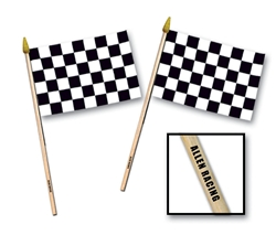 "4"" x 6"" Custom Imprinted Rayon Racing Flag"