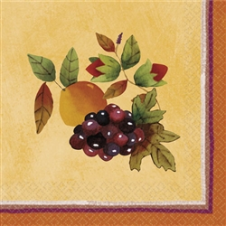 Thanksgiving Medley Beverage Napkins | Party Supplies