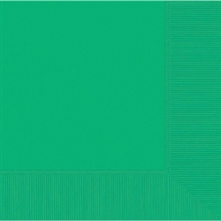 Festive Green 3-Ply Luncheon Napkins - 20ct | Party Supplies