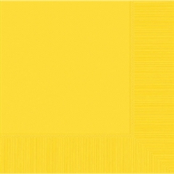 Yellow Sunshine 3-Ply Luncheon Napkins - 20ct | Party Supplies