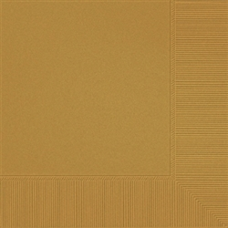 Gold Luncheon Napkins - 20ct. | Party Supplies