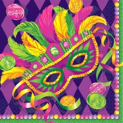 Masquerade Luncheon Napkins, 16 ct. | Mardi Gras Tableware