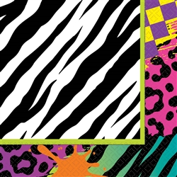 Totally 80's Luncheon Napkins | Party Supplies