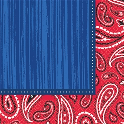 Bandana & Blue Jeans Luncheon Napkins | Party Supplies