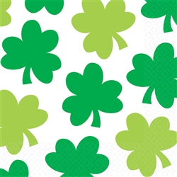 Shamrock Shimmer Luncheon Napkins | St. Patrick's Day Party Supplies