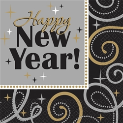 Sparkling New Year Luncheon Napkins | New Year's Party Supplies